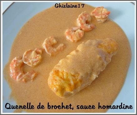 Quenelles de brochet, sauce homardine