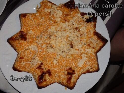 Flan à la carotte et persil (thermomix)