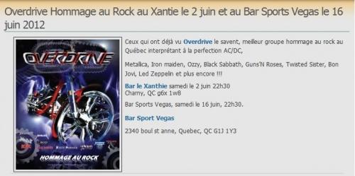 """bonjovi sera de la partie ce soir 16 juin 2012 au quebec pour un concert hommage au rock au """"bar sport vegas"""" à 22h30"""