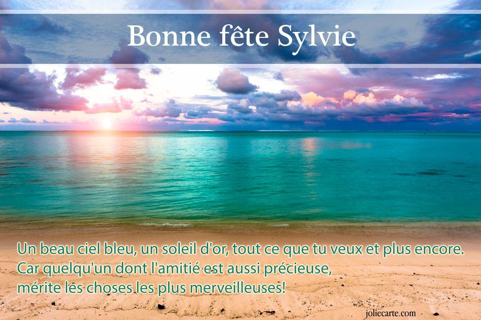 """bonne et heureuse fête à toutes les """"Sylvie"""" de la blogsphère !!!!!"""