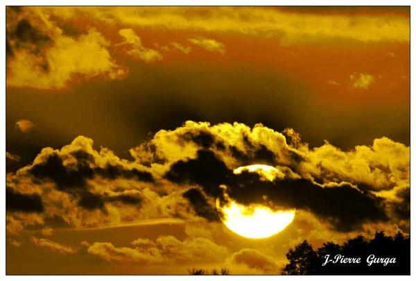 Couchers de soleil sur le lac de Marcenay