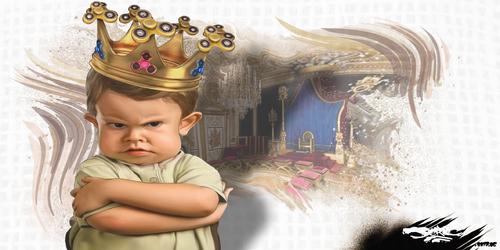 dessin de JERC mercredi 07 juin 2017 caricature enfant roi Hand Spinner Con sommation : Esclave d'objets fabriqués par des esclaves. www.facebook.com/jercdessin