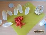 Barquette d'endive tomate feta