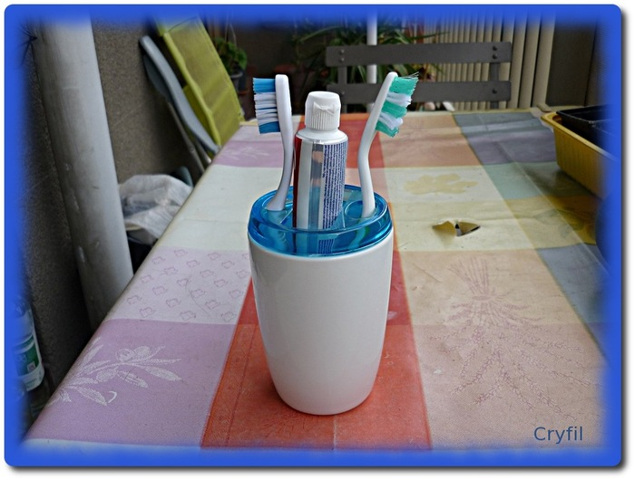 kesaco gobelet brosse à dents trouvé