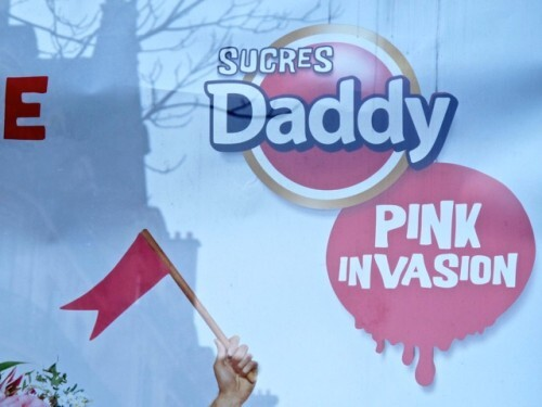 affiche Daddy sucre rose Pink invasion