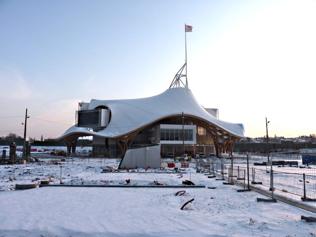 Centre Pompidou Metz neige 1