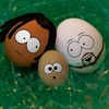 happy-easter-mother-father-child-kid-mom-dad-son-daughter-black-white-brown-photoshop-funny-grass-ba