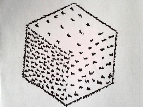 Cube fourrure