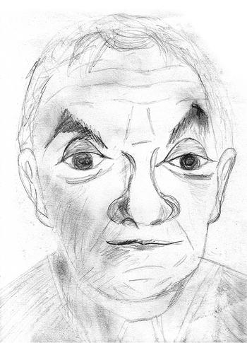 1998 Caricature Aznavour