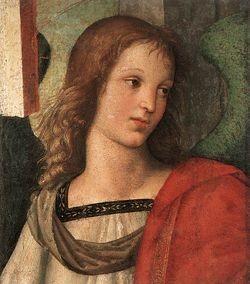 250px-Raffaello Angelo 1 (frammento pala Baronci)