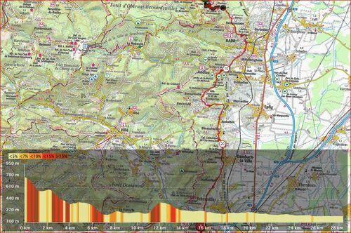 J 6 du Mont Saint Odile à Châtenois