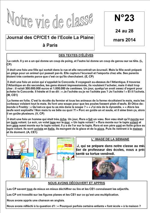 Journal de classe
