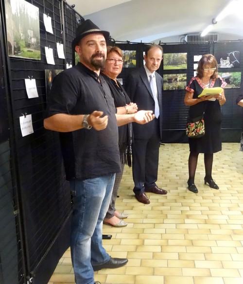 """Vernissage de l'exposition du Festival """"Au fil de l'onde, entrez en Seine""""...."""