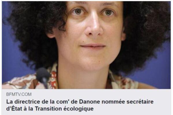 Le nouveau « secrétaire d'État à la transition écologique » est un dirigeant et lobbyiste de Danone