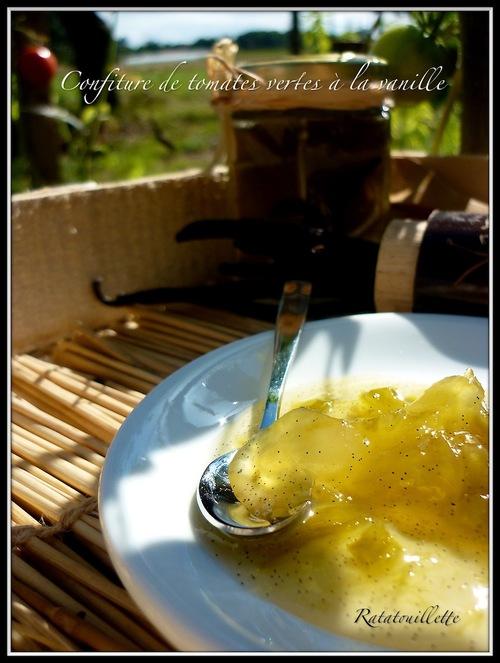 Confiture de tomates vertes à la vanille