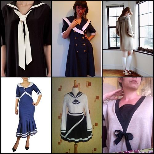 Inspiration robe à col marin