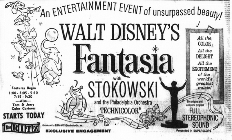 FANTASIA BOX OFFICE USA 1964