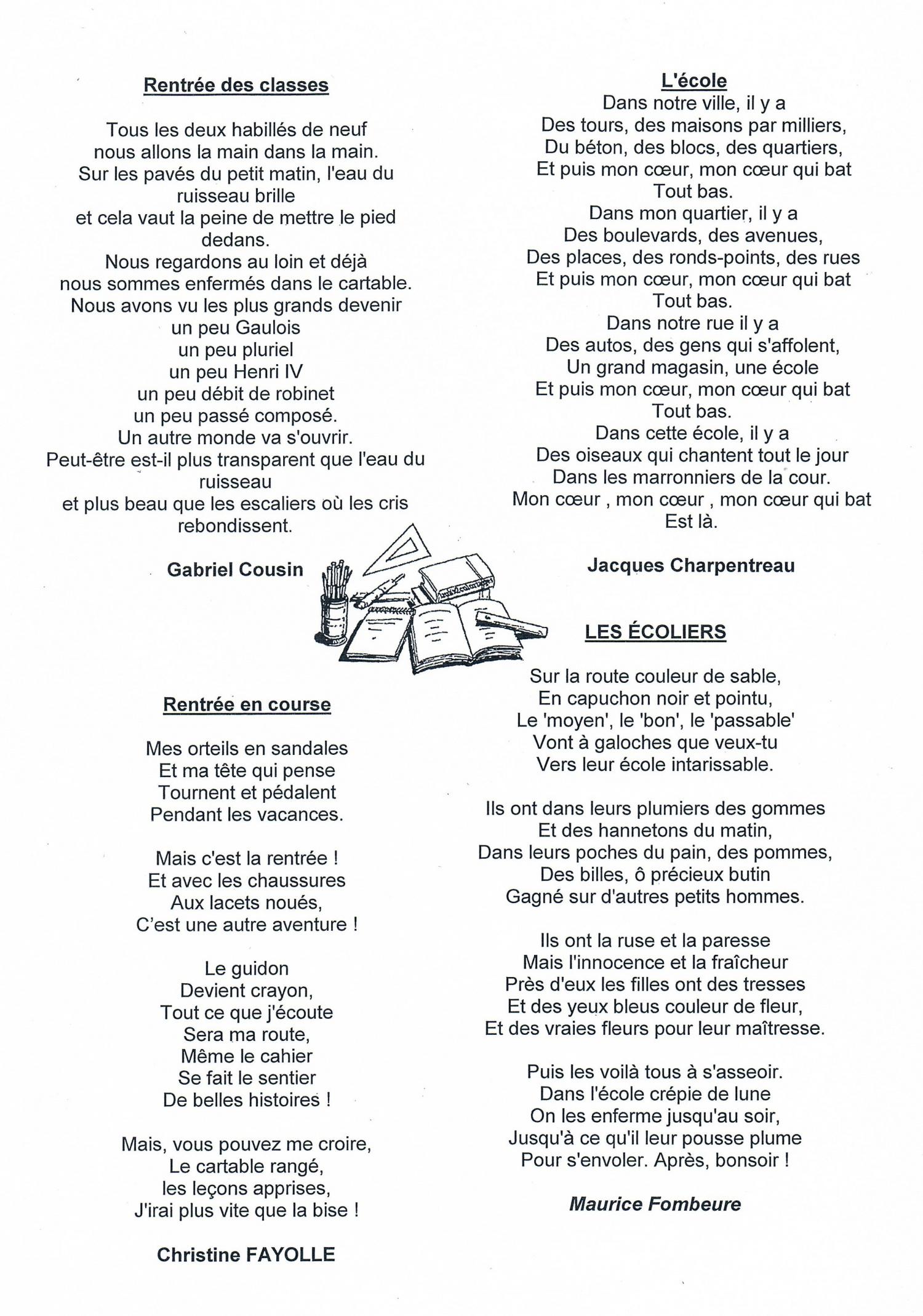 Fabulous Premières poésies et premiers chants - Blog des CM2 B de l'année  HK98