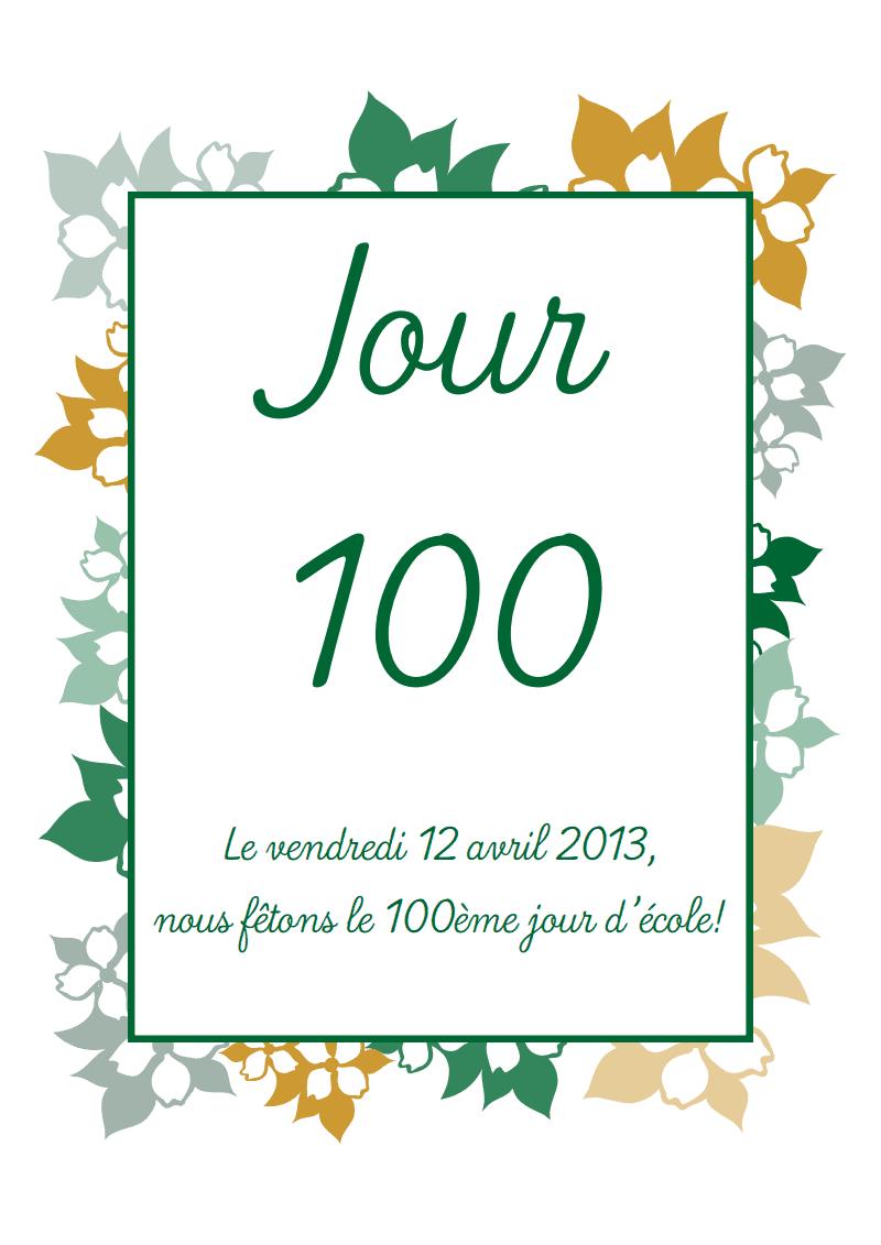 livret du 100ème jour