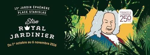 Jardin éphémère 2016 : Stan, royal jardinier