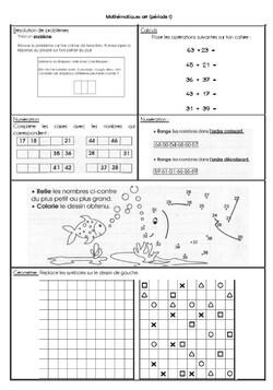 Fiches mathématiques ZIL Période 1