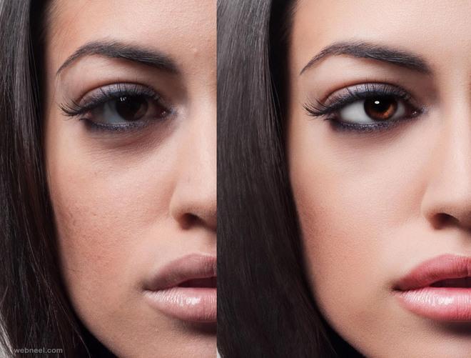 eyes photo retouching