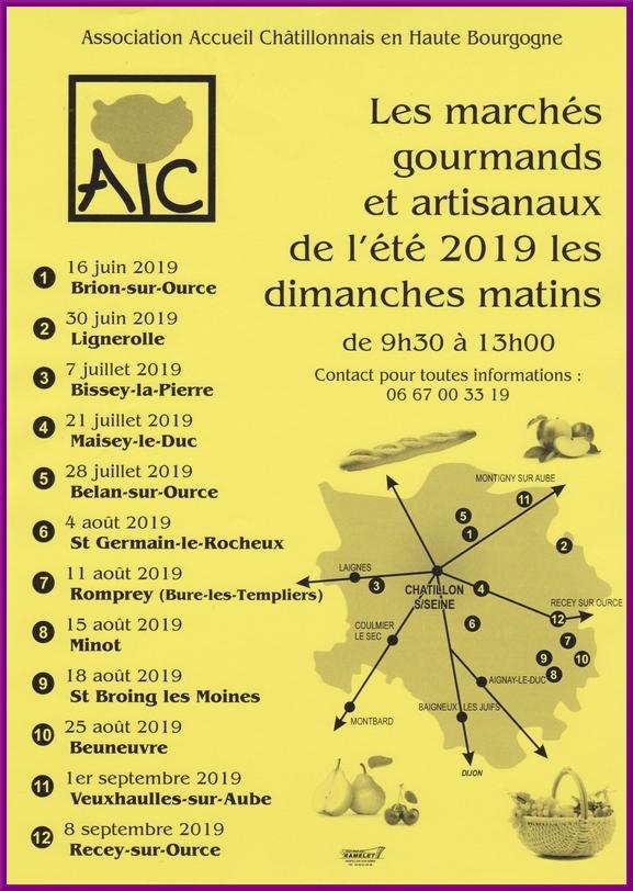 """Les """"marchés gourmands"""" de l'été 2019"""
