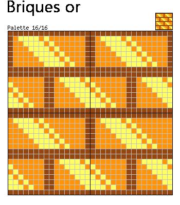 Motif briques or