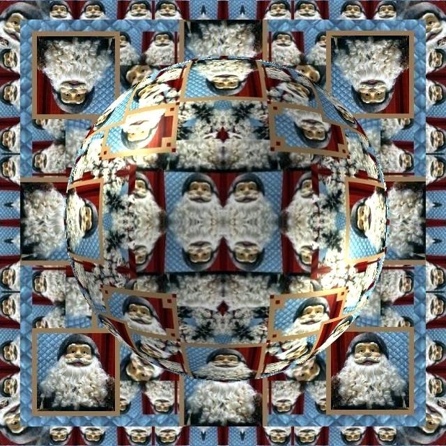 Mandala Père Noël 1 mp1357 25 12 2010 rond
