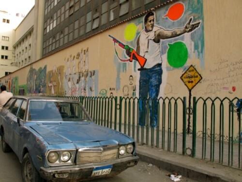 Cairo Port Saïd mural fusil