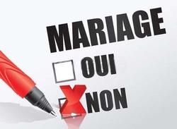 Rature sur Registre, Mariage annulé, la Mariée à dit Non