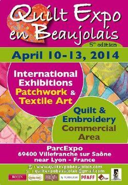 Quilt en Beaujolais 10 au 13 avril 2014