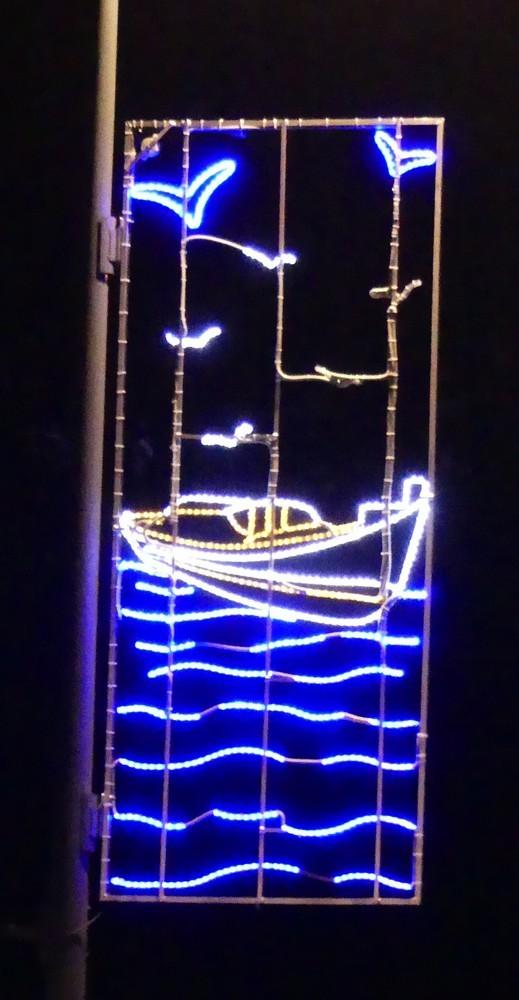 Illuminations de Noël 2017 sur la presqu'île du Cap-Ferret...