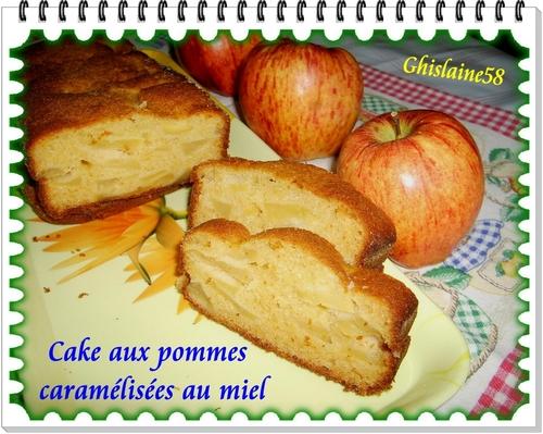 Cake aux pommes caramélisées au miel