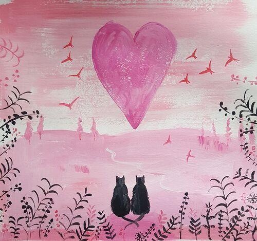 Tableau du samedi 6 : Chats de Saint Valentin