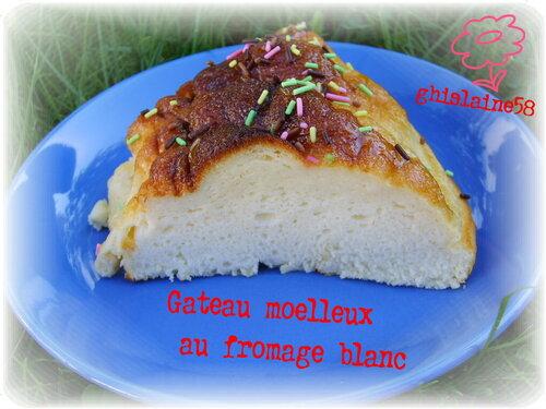 Gateau moelleux au fromage blanc