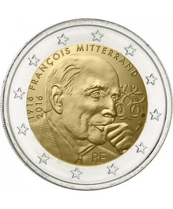 UNE PIECE DE 2 EUROS EN HOMMAGE A FRANCOIS MITTERrAND