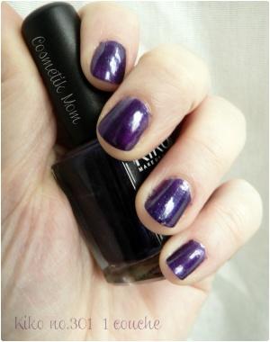 Vernis Kiko #301 Violet Black MictoGlitter