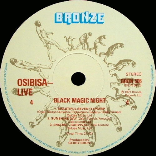 "1977 : Album "" Black Magic Night : Live At Royal Festival Hall "" Bronze Records BRSP 3 [ UK ]"