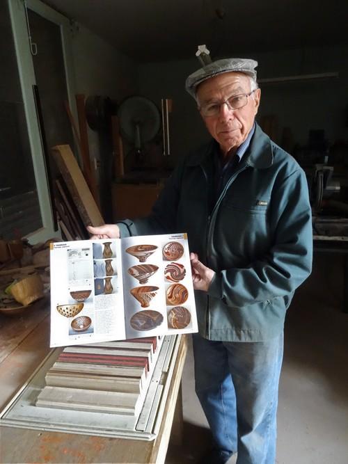 Jean Glace présentera, le jour de la fête de la pomme à Laignes, une nouvelle magnifique création en bois tourné !