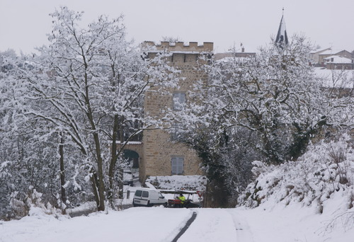 la neige à beaulieu.05.02.2018