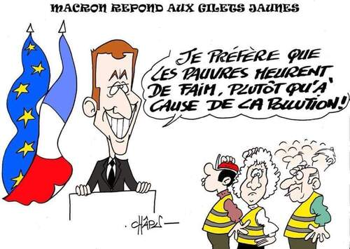 Macron, Brigitte, gilets jaunes et le reste , ce sont les infos du poissonnier.