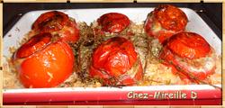 Tomates farcies sur Lit de Riz
