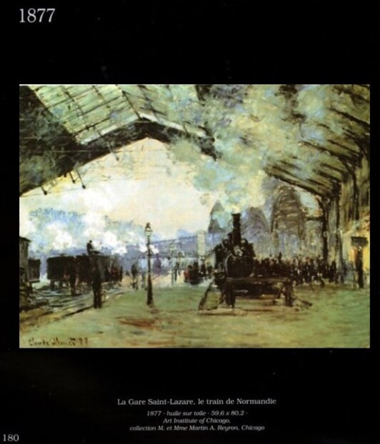 Saint-Lazare . Page du livre Claude Monet collection Joel Georges .
