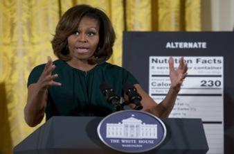 Obésité : Michelle Obama s'attaque aux étiquettes alimentaires