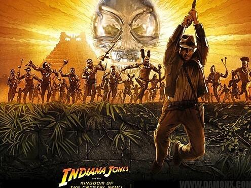 Affiche Indiana Jones crâne de cristal