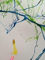 Peinture à la paille (Vacances hiver - création n°3)