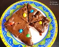 Tarte chocolatée aux M&M's