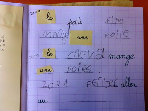Ecrire des mots et des phrases en GS