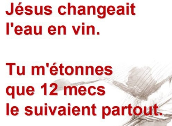 Jesus eau vin